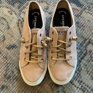 Sperry Crest Vibe Sparkle pink sneaker 8